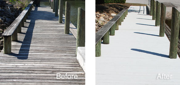 Deck Paint That Fills Cracks ~ Dock revive by gulf synthetics