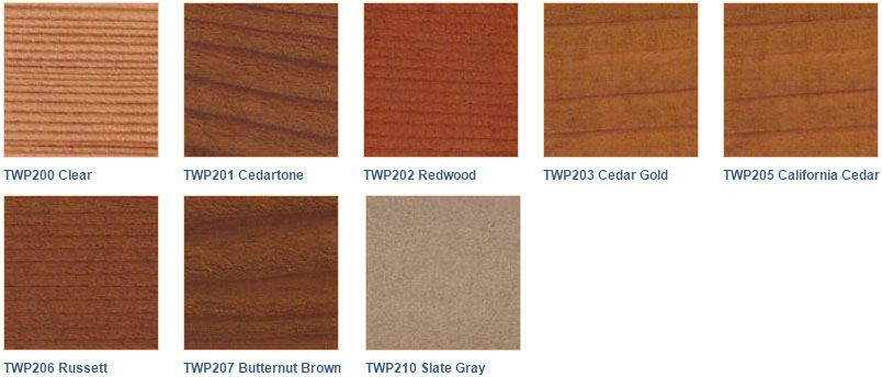TWP 200 Series colors