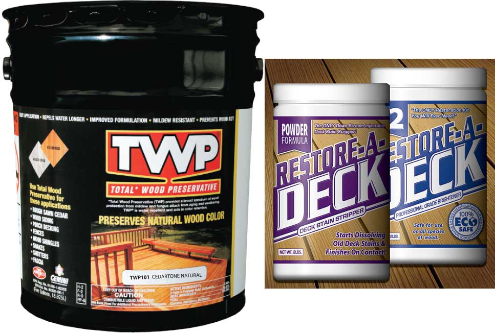 TWP 100 Series  Deck Stain 5 Gallon and RAD Stripper/Brightener Kit