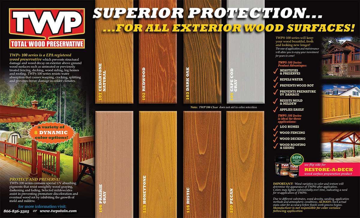 Twp 100 series 1 gallon twp wood stains - Cedar wood preservative exterior ...