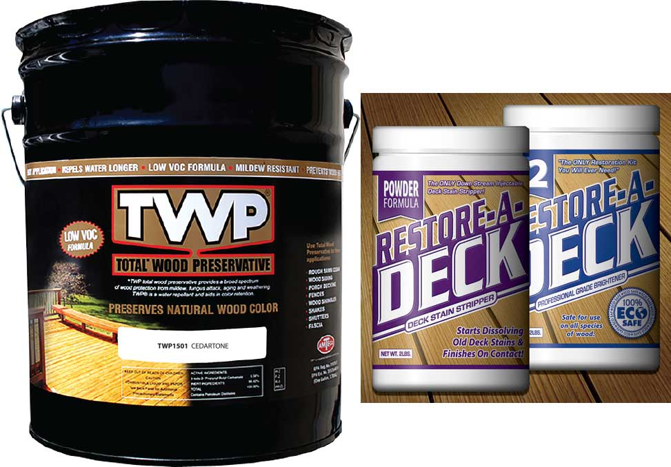 TWP 1500 Series Deck Stain 5 Gallon and RAD Stripper/Brightener Kit