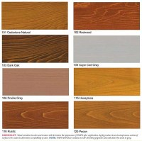 TWP Wood Deck Stain Samples